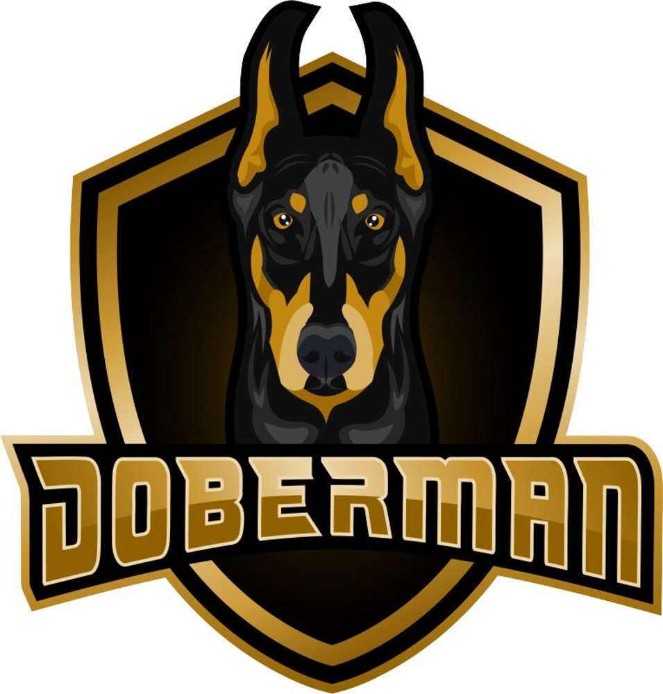 doberman dog.psd